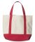 8867 UltraClub Seaside Canvas Boat Tote  RED