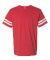 LAT 6937 Adult Fine Jersey Football Tee VN RED/ BLD WHT