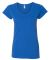 64V00L Gildan Junior Fit Softstyle V-Neck T-Shirt ROYAL BLUE