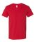 SFVR Fruit of the Loom 4.7 oz., 100% Sofspun™ Cotton Jersey V-Neck T-Shirt Fiery Red