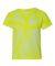 Dyenomite 20BTT Youth Tone-on-Tone Pinwheel Short Sleeve T-Shirt Neon Yellow