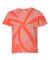 Dyenomite 20BTT Youth Tone-on-Tone Pinwheel Short Sleeve T-Shirt Neon Orange