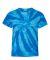 Dyenomite 20BTT Youth Tone-on-Tone Pinwheel Short Sleeve T-Shirt Neon Blue