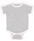 Rabbit Skins 4432 Infant Soccer Ringer Fine Jersey Bodysuit HEATHER/ WHITE