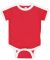 Rabbit Skins 4432 Infant Soccer Ringer Fine Jersey Bodysuit RED/ WHITE