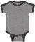 Rabbit Skins 4432 Infant Soccer Ringer Fine Jersey Bodysuit GRNT HTH/ VN SMK