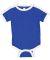 Rabbit Skins 4432 Infant Soccer Ringer Fine Jersey Bodysuit ROYAL/ WHITE