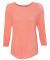 8232 J. America - Women's Oasis Wash 3/4 Sleeve T-Shirt Fusion Coral