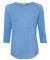 8232 J. America - Women's Oasis Wash 3/4 Sleeve T-Shirt Deep Periwinkle