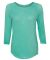 8232 J. America - Women's Oasis Wash 3/4 Sleeve T-Shirt Spearmint