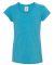 8129 J. America - Youth Glitter T-Shirt Maui Blue/ Silver
