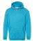 8606 J. America - Youth Glitter French Terry Hood Maui Blue/ Silver