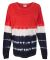 8229 J. America - Game Day Jersey Red/ Navy Tie-Dye