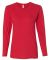 884L Anvil Missy Fit Ringspun Long Sleeve T-Shirt Red