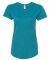 6750L Anvil Ladies' Triblend Scoop Neck T-Shirt Heather Galapagos Blue