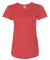 6750L Anvil Ladies' Triblend Scoop Neck T-Shirt Heather Red