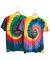 69 Dyenomite Tie-Dye Adult Neon Pigment-Dyed Spiral Tee 200MS