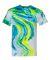 Dyenomite 200MR Marble Tie-Dye T-Shirt Blue/ Flo Yellow