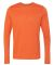 Gildan G474 Adult Tech Long Sleeve T-Shirt MARBLED ORANGE