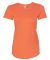 6750L Anvil Ladies' Triblend Scoop Neck T-Shirt Heather Orange