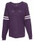 Boxercraft T17 V-Neck Slub VarsiTee Pom Pom Jersey Purple