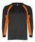 2154 Badger Youth Performance Long-Sleeve Hook Athletic Tee Black/ Burnt Orange