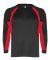 2154 Badger Youth Performance Long-Sleeve Hook Athletic Tee Black/ Red