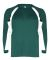 2154 Badger Youth Performance Long-Sleeve Hook Athletic Tee Forest/ White