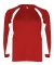 2154 Badger Youth Performance Long-Sleeve Hook Athletic Tee Red/ White
