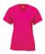Badger Sportswear 2162 B-Core Girl's V-Neck T-Shirt Hot Pink