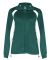 7902 Badger Ladies' Hook Brushed Tricot Polyester Full Zip Jacket Forest/ White