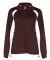 7902 Badger Ladies' Hook Brushed Tricot Polyester Full Zip Jacket Maroon/ White