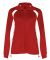 7902 Badger Ladies' Hook Brushed Tricot Polyester Full Zip Jacket Red/ White