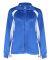 7902 Badger Ladies' Hook Brushed Tricot Polyester Full Zip Jacket Royal/ White