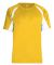2938 Badger Youth Hook Placket Tee Gold/ White