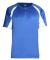 2938 Badger Youth Hook Placket Tee Royal/ White