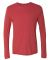 6071 Next Level Men's Triblend Long-Sleeve Crew Tee VINTAGE RED
