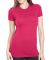 4990 Bayside Ladies' Fashion Jersey Tee Bright Pink