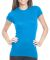 4990 Bayside Ladies' Fashion Jersey Tee Turquoise