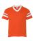 Augusta Sportswear 361 Youth V-Neck Football Tee Orange/ White