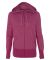 Independent Trading Co. PRM655BZ Women's Baja Stripe Terry Hoodie Rosa Brilliante