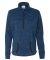 8617 J. America Women's Cosmic Fleece Quarter Zip Pullover Royal Fleck/ Black