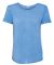 J America 8127 Women's Oasis Wash Drop Tail T-Shirt Deep Periwinkle
