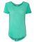 J America 8127 Women's Oasis Wash Drop Tail T-Shirt Spearmint