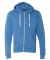 J8872 J-America Adult Tri-Blend Full-Zip Hooded Fleece Cool Royal Triblend