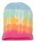 Dyenomite 870VR Tie-Dyed 12 Inch Knit Beanie Aerial Stripe
