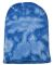 Dyenomite 870VR Tie-Dyed 12 Inch Knit Beanie Royal Crinkle