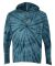 Dyenomite 430VR Tie-Dyed Hooded Pullover T-Shirt Navy