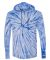 Dyenomite 430VR Tie-Dyed Hooded Pullover T-Shirt Royal