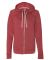 Champion AO650 Authentic Originals Women's French Terry Hooded Full-Zip Carmine Red Heather